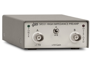 SR551(High impedance preamplifier)